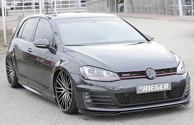 Rieger Frontspoilerschwert in schwarz glänzend für VW Golf 7 GTI / GTD