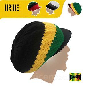 c13ceb48bb1 Rasta Cap Jamaica Hat Reggae Crown Dreadlocks Roots Selassie Africa ...
