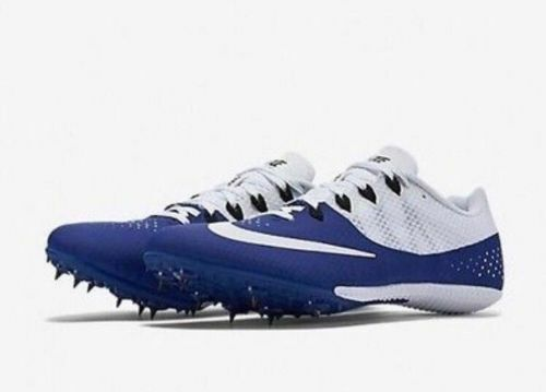 NIKE Zoom Rival S 8 Men Spikes Track Field Sprint Shoes 806554-401 Blue Sz 11.5