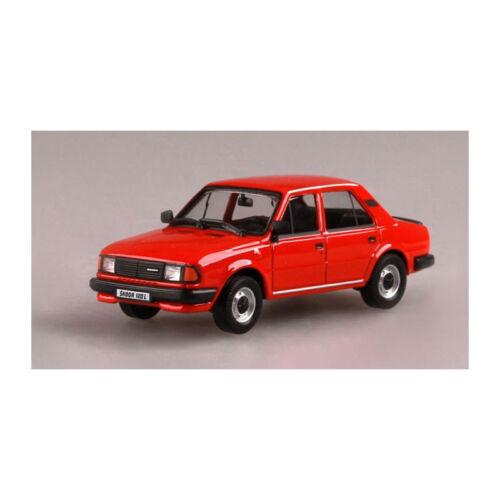 New Abrex 143abs-702bd Skoda 120l Red Scale 1:43 Model Car ° 140285