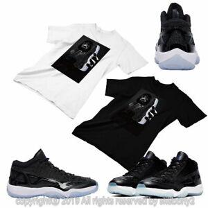 Custom T Shirt Matching Style Of Air Jordan 11 Low Ie Space Jam Jd