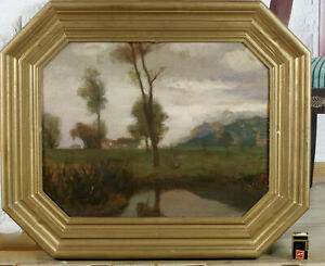 Emanuel-Schaltegger-1857-1909-Munich-Oil-Painting-Antique-Impressionist-Sides