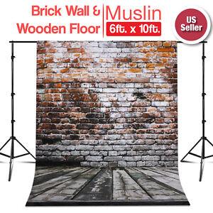 6 ft x 10 ft Photo Studio Brick Wall /& Wooden Floor Backdrop Wrinkle Resistant