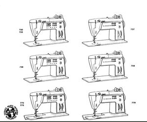 Singer Touch /& Sew 750 Instructional Book Manual Guide