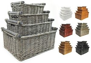 Wicker Storage Handle Xmas Empty Gift
