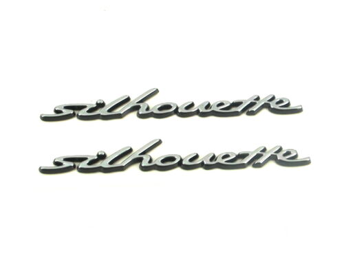 2 x Genuine New Rare FORD SILHOUETTE BADGE Fender Emblem Escort V /& VI 1992-2000