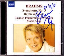 Marin ALSOP Signed BRAHMS Symphony No.3 Haydn Variations CD London Philharmonic