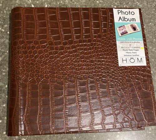 Hom Essence Faux Leather Alligator Print  Photo Album Holds 160 4x6 80 5x7