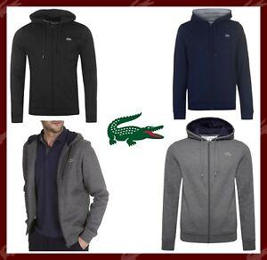 LACOSTE-Sports-Hoodie-Mens-Plain-Croc-Logo-Top-Hooded-Full-Zip-Jacket-S-M-L-XXL
