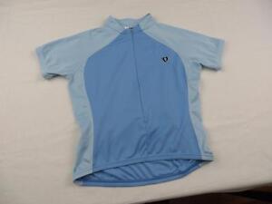 Pearl-Izumi-Womens-Blue-Cycling-Bike-Jersey-Shirt-Sz-Medium-Mountain-Summer-S-S