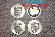orig. Porsche 964 Metall Felgendeckel Silber Eloxiert / Wheel centre Caps