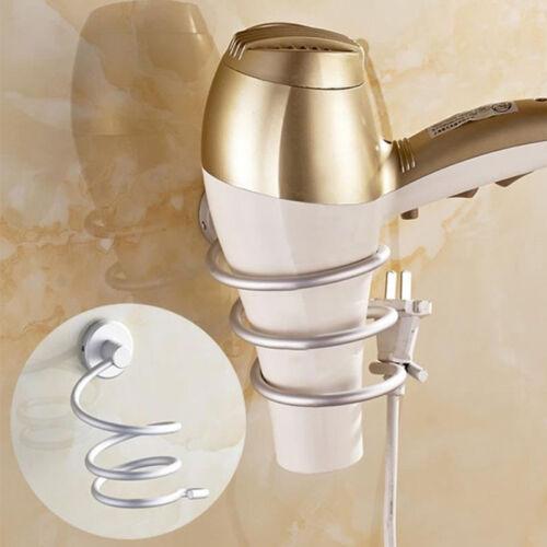 New Bathroom Space Aluminum Wall-mounted Hair Dryer Rack Storage Holder Shelf