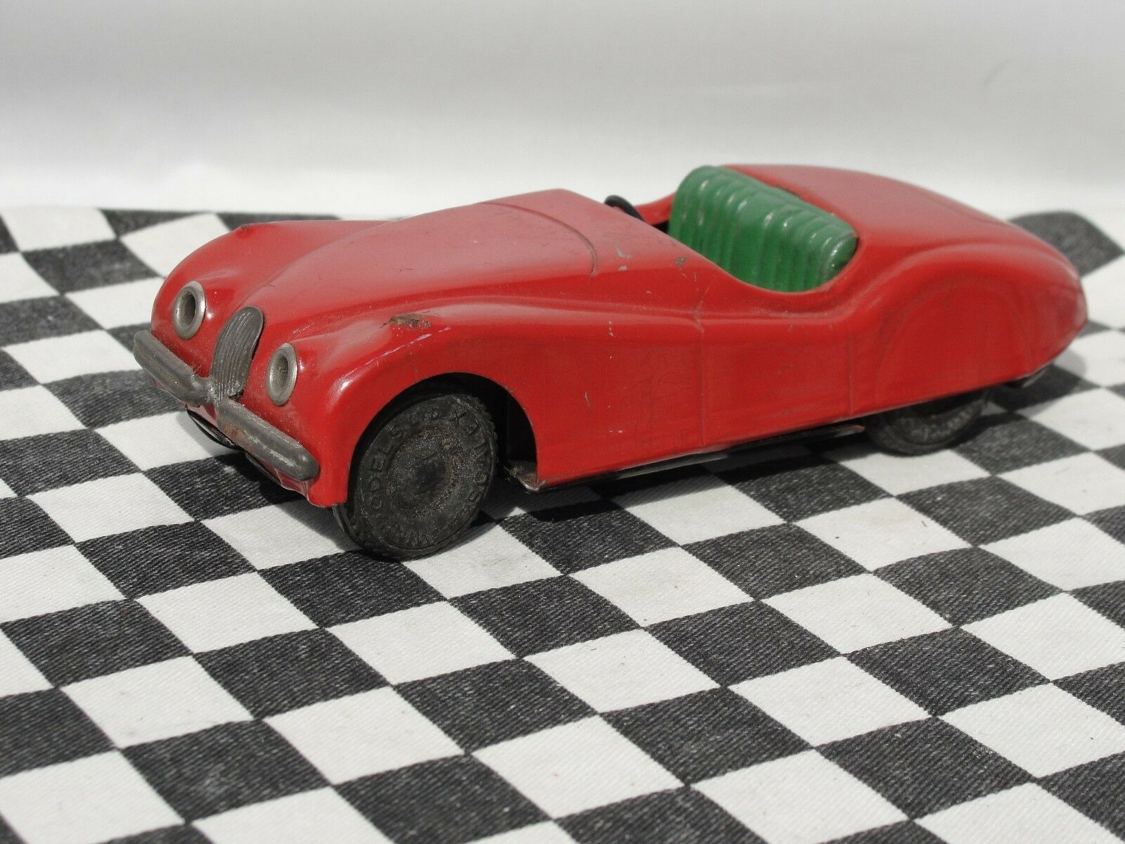 MINIMODELS 1950'S TINPLATE JAGUAR XK120  RED USED UNBOXED