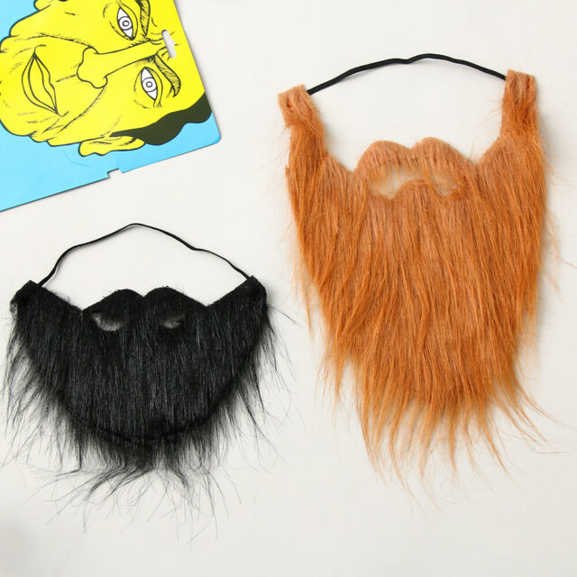 Prom Props Party Costume Fake Beard Facial Hair Moustache Wig Fancy Dress