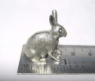 Pewter Tiny Miniature Rabbit Figurine Bunny FREE SHIPPING