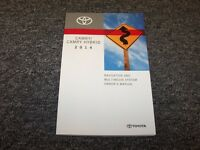 2014 Toyota Camry Navigation System Owner Owner's Operator Manual L Le Se Xle