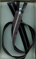 36 Inch Ykk 5 Black & Aluminum Metal Separating Zipper