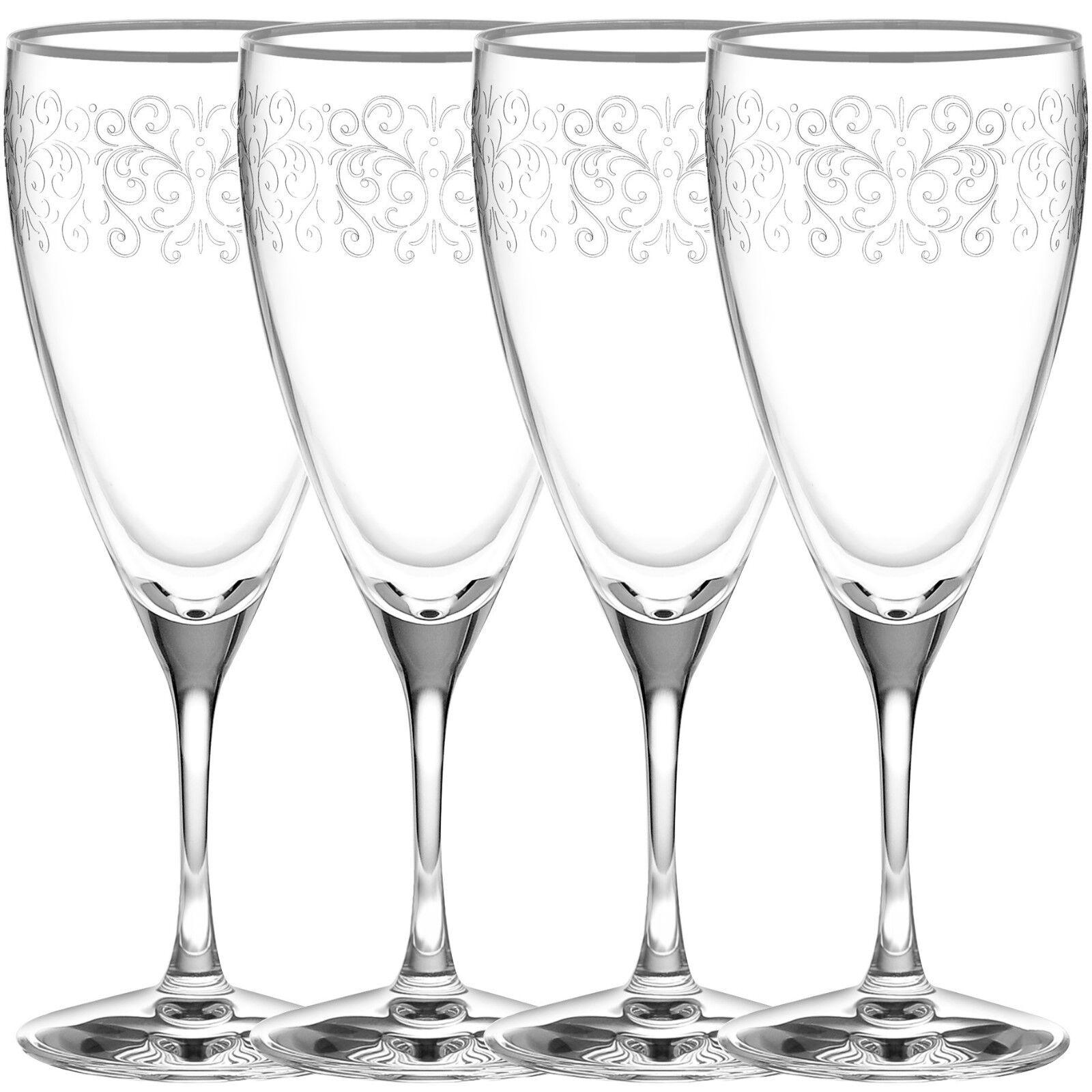 Noritake Odessa Platinum glacé boisson verres, ensemble de 4