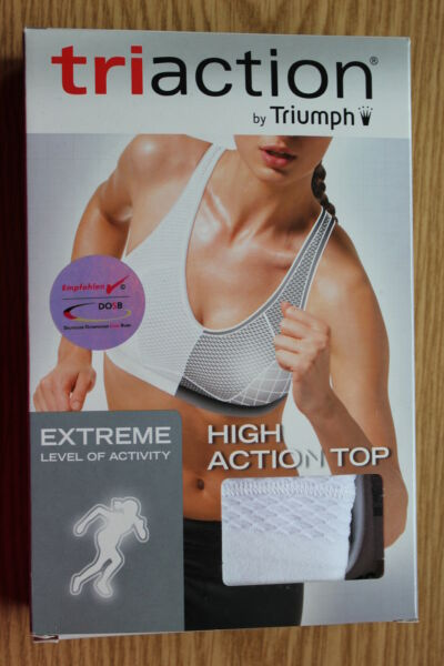 "Triumph Sport-BH ""High Action Top"" Gr. 75 D weiß 1.Wahl Triaction-Serie bügellos"