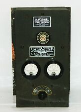 Antique TransVerter Speed Voltage Control Panel Hertner Movie Theater Projector