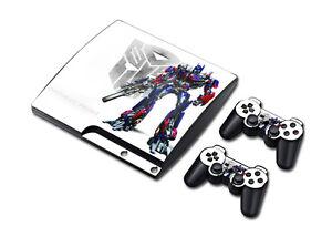 Charmant Ps3 Playstation 3 Slim Console Skin Decal Sticker Transformer Skins Set Design Prix RéDuctions