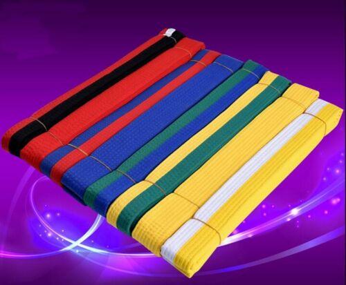 Taekwondo Belt Karate Double Wrap Belt Professional Martial Arts All Colors