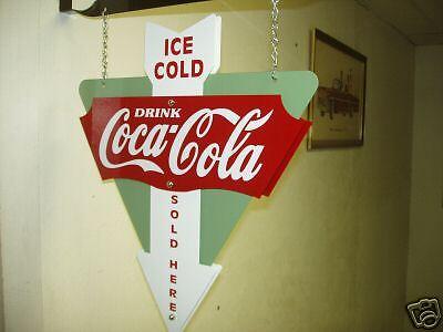 COCA-COLA 1940S 1950S 1960S NOSTALGIC ADVERTISING SIGN SODA FOUNTAIN OIL GAS