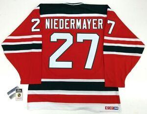 reputable site 0a78e b32bd Details about SCOTT NIEDERMAYER NEW JERSEY DEVILS CCM VINTAGE JERSEY NHL  75th ANNIVERSARY