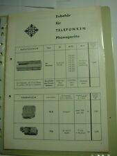 C792/ Telefunken Werkstattanleitung Zubehör für TELEFUNKEN Phonogeräte