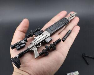 1//6 1:6 MK14 PUBG BattleField4 Gun MOD0 Sniper Rifle Modern Warfare 21cm METAL