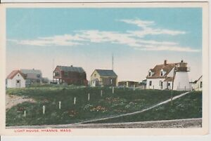 Hyannis-Mass-Lighthouse-Vintage-postcard-unposted