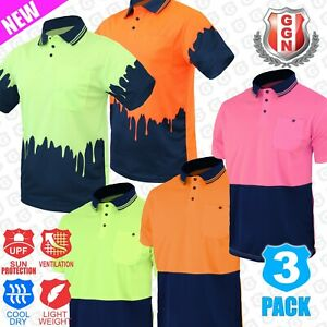 3x-HI-VIS-POLO-SHIRTS-2-TONE-COOL-DRY-Short-Sleeve-Collection-AS-NZS-1906-4602