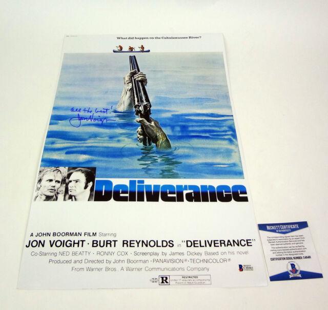 Jon Voight Signed Autograph Deliverance Movie Poster Beckett BAS COA
