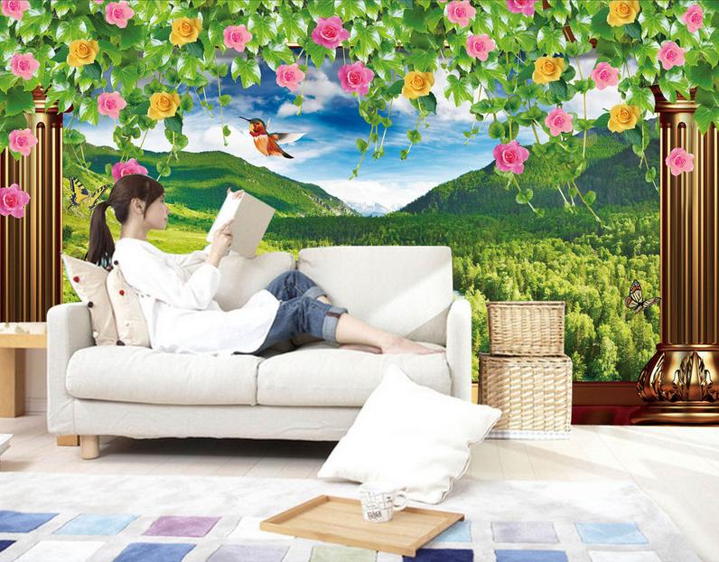 3D Vogel Rosa Berg 854 854 854 Tapete Wandgemälde Tapete Tapeten Bild Familie DE Summer   2019     020432