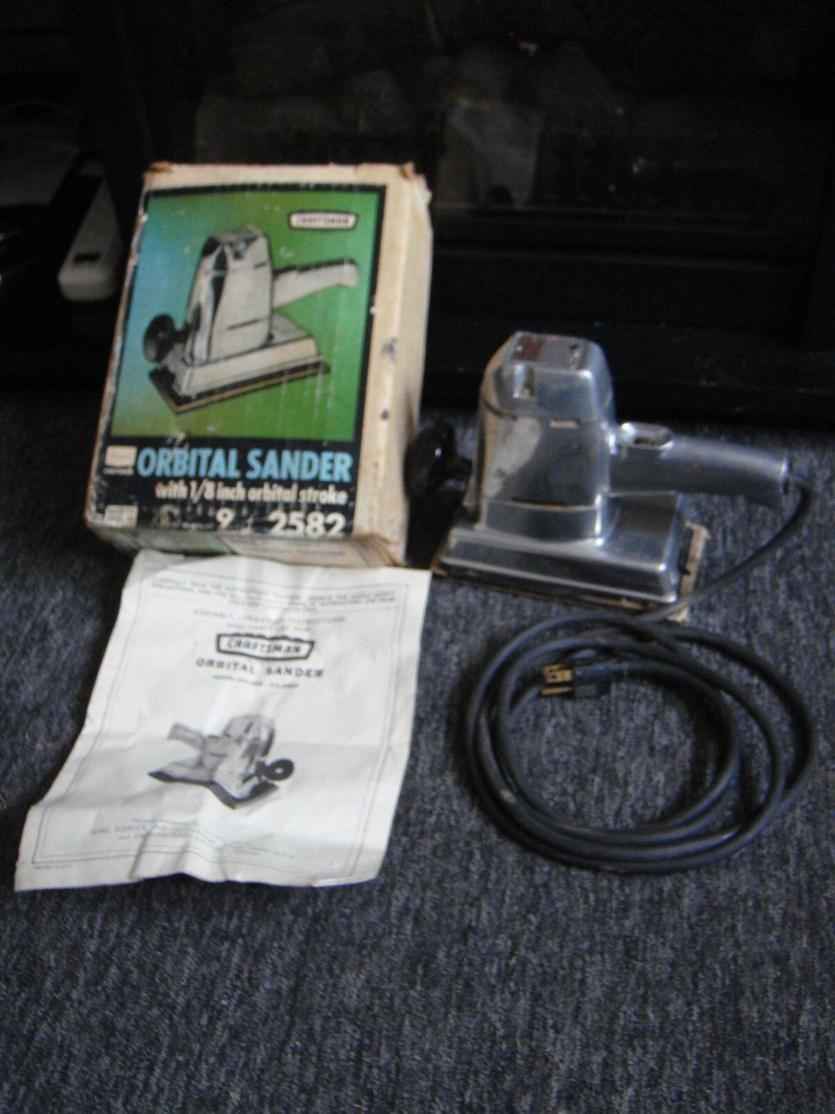Vintage Sears Craftsman Orbital Sander  315.25820 In Box Great Working Condition