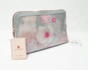 Bolsa Gris de Floral Maquillaje Beautiful Chelsea Ted Bloom Grande Bnwt Lavado Baker xwFAfXwqyY