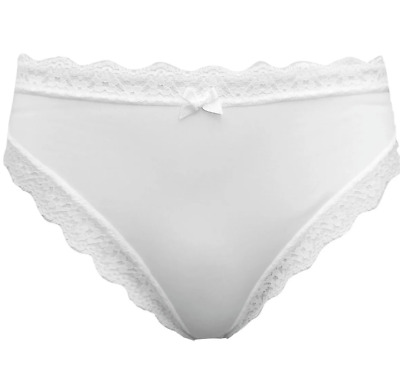 2 PACK Lace Wrap High Leg Knickers Briefs ex M/&S