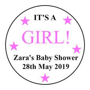 Personalised-Baby-Shower-Stickers-Blue-Pink-Stars-Sweet-Cones-Boy-or-Girl