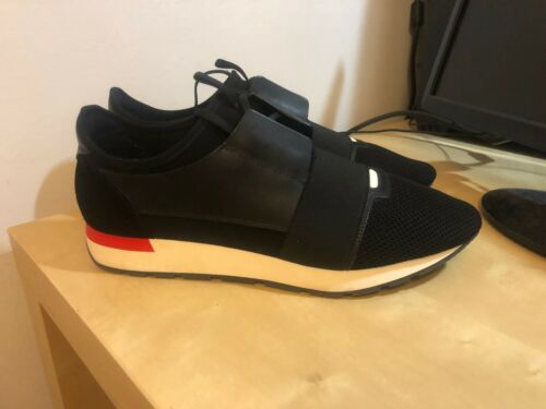 BALENCIAGA RACE RUNNERS BLACK SIZE UK11 EU45 WITH BOX AND DUSTBAG