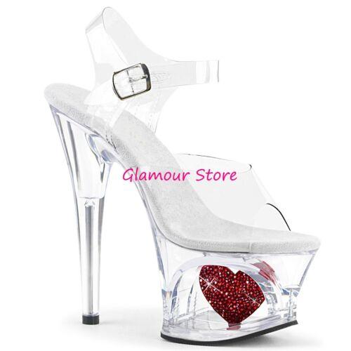 18 Sandali Cuore Tacco Glamour Plateau Sexy Al Aperto Colori Strass 41 35 Dal 2 wfFYwxUngq