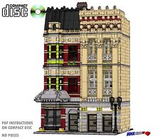 CD Modular Westminster Row Apartments Lego Custom Instructions cafe city town #8