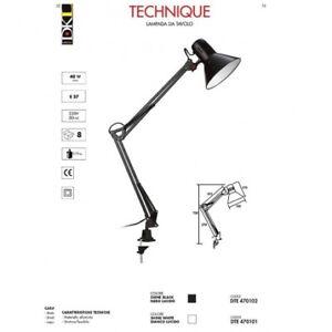 TECHNIQUE Lampada da tavolo - Bianco lucido - DKL - DTE470101