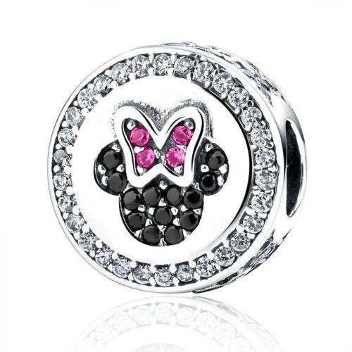 Solid 925 Sterling Silver CZ European Charm Bead Pendant Fit Bracelet Necklace