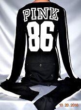 Victorias Secret Love Pink 86 Thermal Long Janes Onesie One Piece Pajamas NEW M