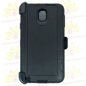 For-Samsung-Galaxy-Note-3-Black-Defender-Case-Belt-Clip-Fits-Otterbox