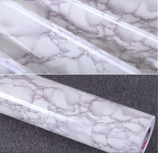 Gray Marble Self Adhesive Vinyl Contact Paper Shelf Drawer Liner Peel Stick
