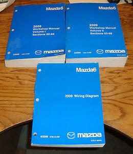 Original 2009 Mazda Mazda6 Shop Service Manual Vol 1 2 ...