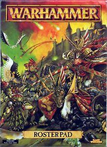 Warhammer ROSTERPAD Roster Pad Fantasy WFB Middlehammer 90s