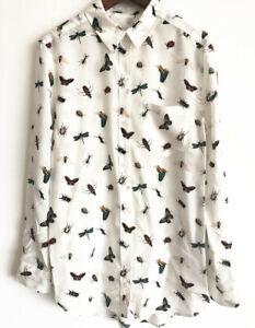 Equipment-Brett-Silk-Insect-Placement-Print-Shirt
