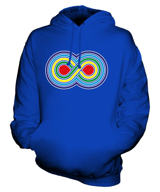 VIBRANT INFINITY SYMBOL UNISEX HOODIE TOP GIFT LOGO TRADITIONAL